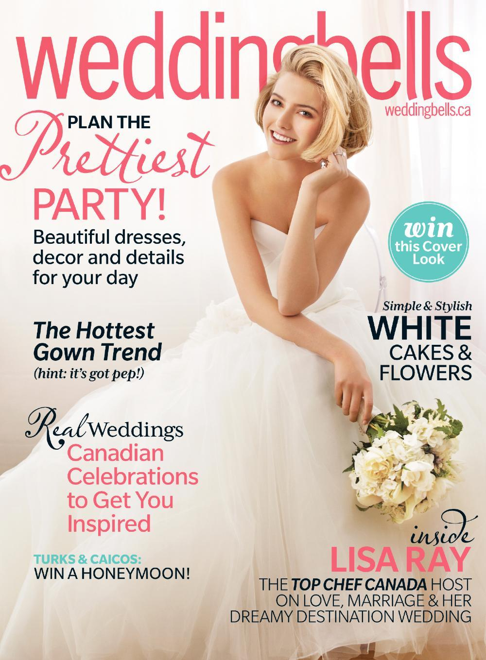 Botany Feature: weddingbells magazine - Botany Bridal Bouquet on Fall/Winter 2012 cover