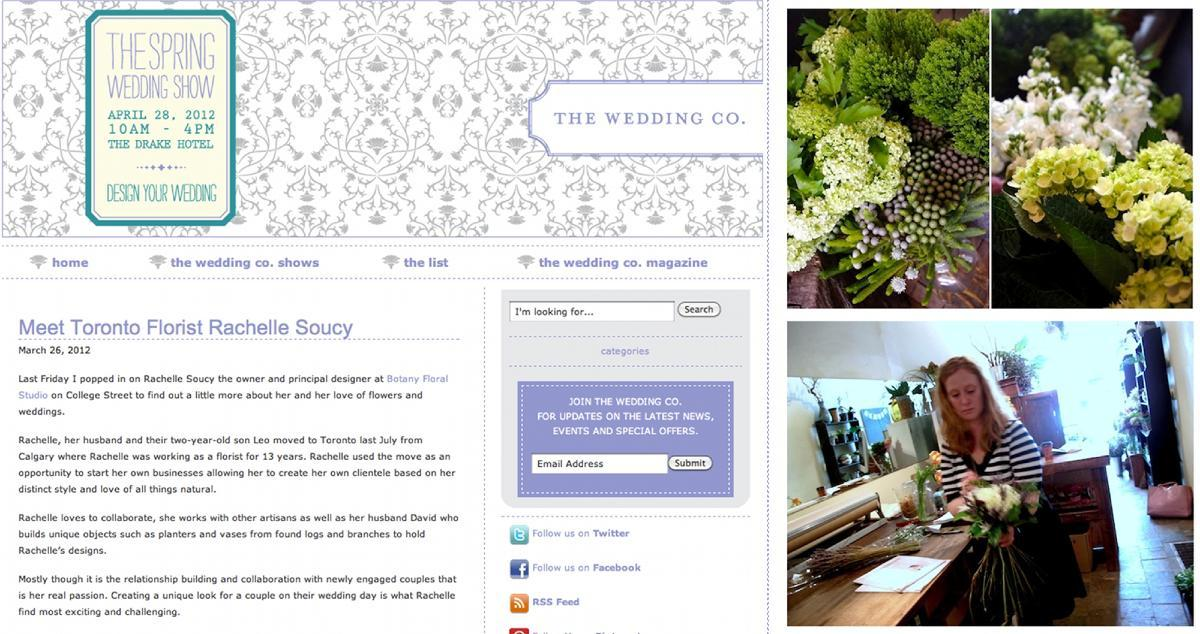 Botany Feature: Wedding Co. Magazine's blog